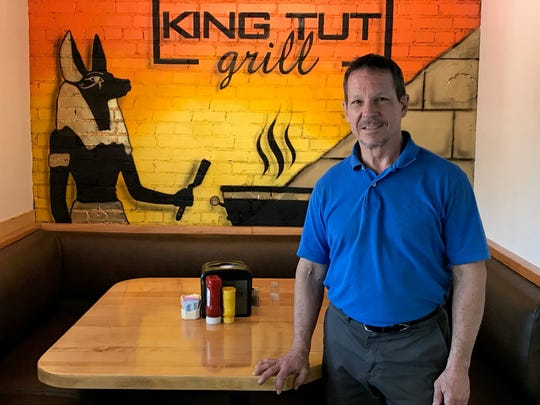 King Tut Grill owner, Warner Bouzek designed his restaurant with new dining trends in mind.