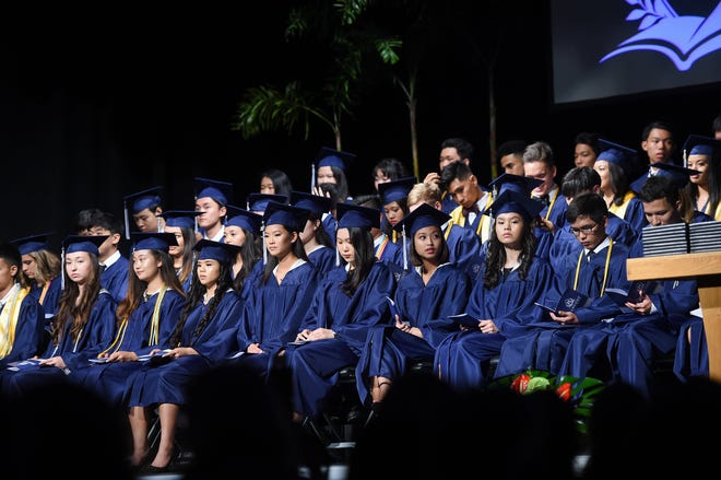 The Harvest Christian Academy Class of 2019 Graduation Ceremony at the Family Life Center Gym in Barrigada is shown in this May 17, 2019, file photo.