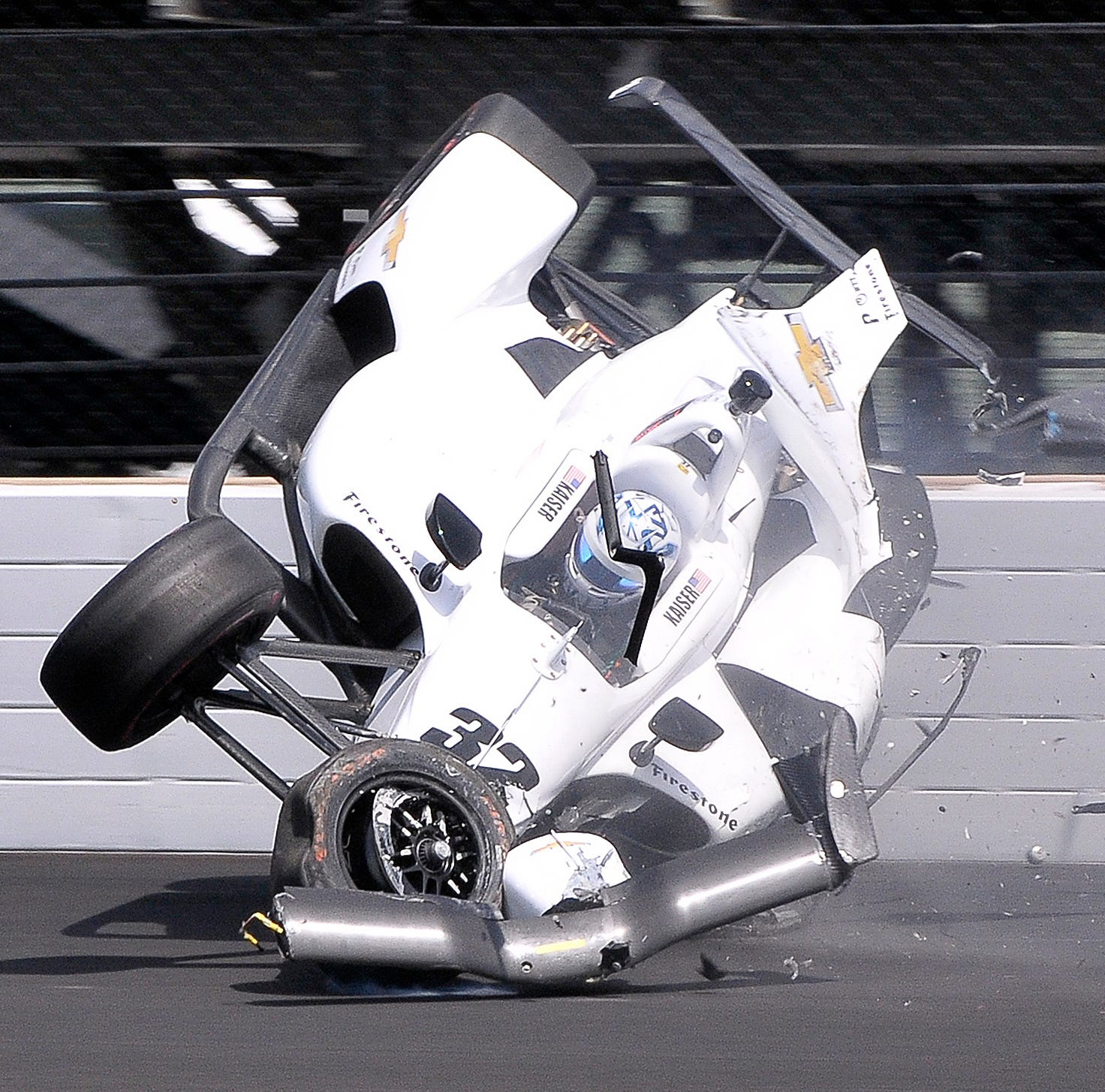 Juncos Racing scrambling after crash, Alonso among slowest no-tow speeds at Indy 500