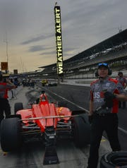 Strong thunderstorms shortened practice for the Indianapolis 500 at the Indianapolis Motor Speedway on Thursday, May 16, 2019.