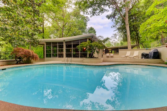 Among previous residents was well-known TVA board member Richard Freeman and his wife, Joie, who added such features as the outdoor pool that hugs the side of the home and adds to the inside/outside cohesion.