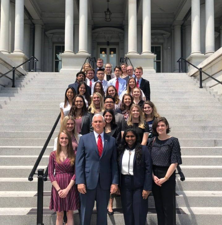 Purdue Honors students meet with Vice President Pence, officials during D.C. based course