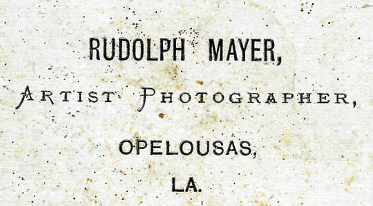 Wording used on backs of photos taken by Professor Mayer in Opelousas.