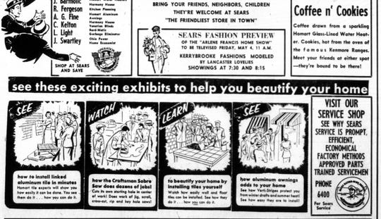 This ad section ran in the April 25, 1956 Lancaster Eagle-Gazette.