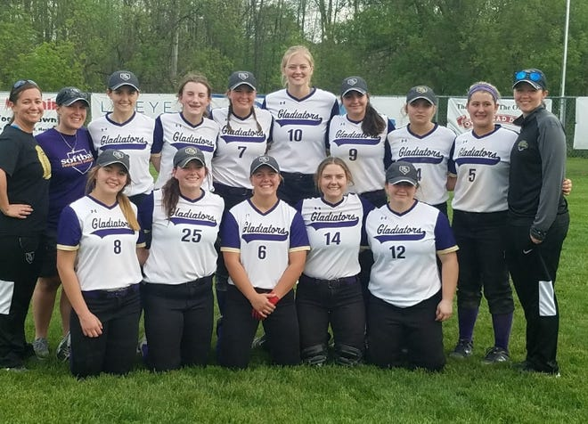 Fowlerville won the CAAC Red softball championship by sweeping Haslett.