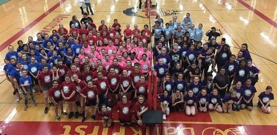 May 11, Manitowoc Public School District hosted its annual fifth- and sixth-grade volleyball tournament at Lincoln's JFK Fieldhouse.