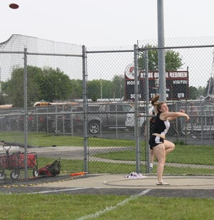 Crestview's Reagan Garrett won the 2019 Division III district title in the discus.