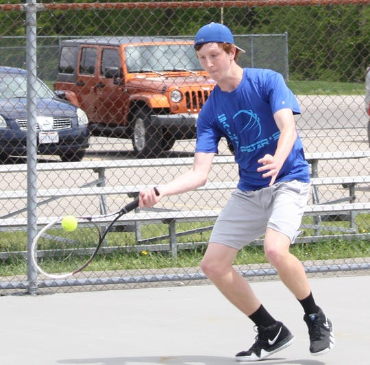 St. Peter's two-time sectional singles champ Luke Henrich has advanced to next week's state tennis tournament outside of Cincinnati.