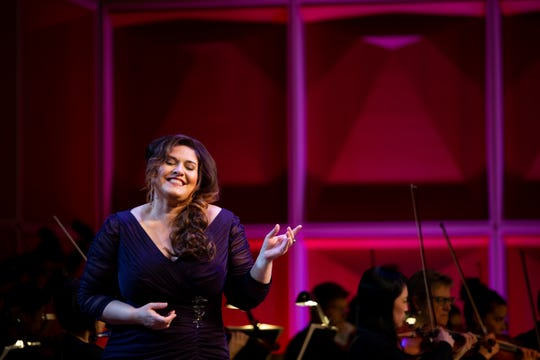 """Soprano Alexandra LoBianco offered a gorgeous """"Ain't It A Pretty Night"""" from Carlisle Floyd's """"Susannah"""" during the Florentine Opera's people's choice concert Friday."""