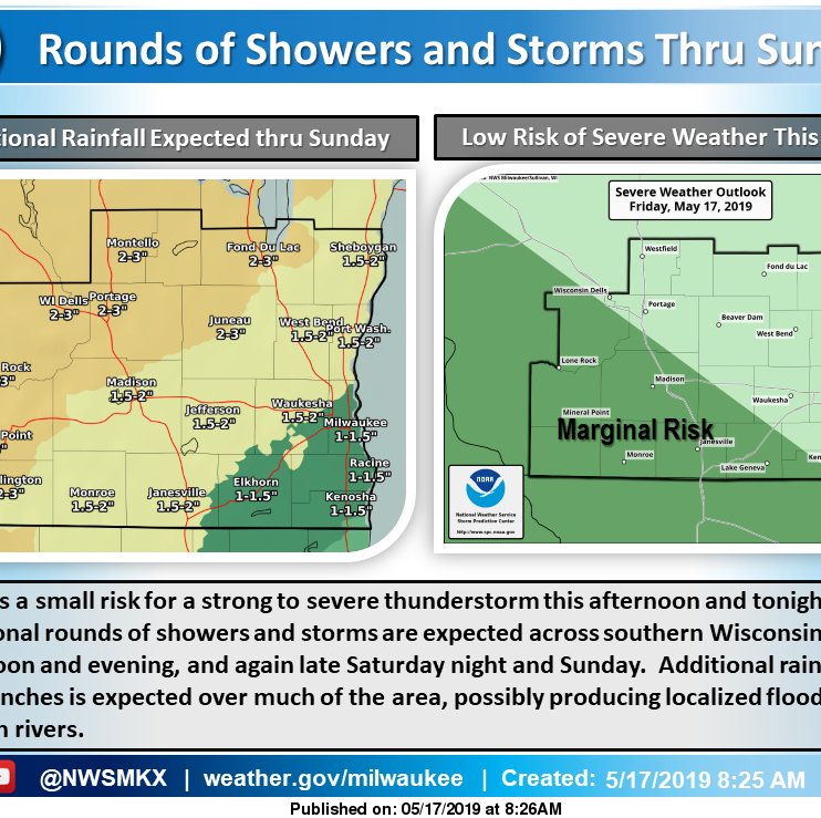 No rain as Bucks plaza party tips off; heavy rain possible across Wisconsin for weekend