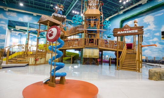 Fort Mackenzie is part of the waterpark at Great Wolf Lodge in Gurnee, Ill.