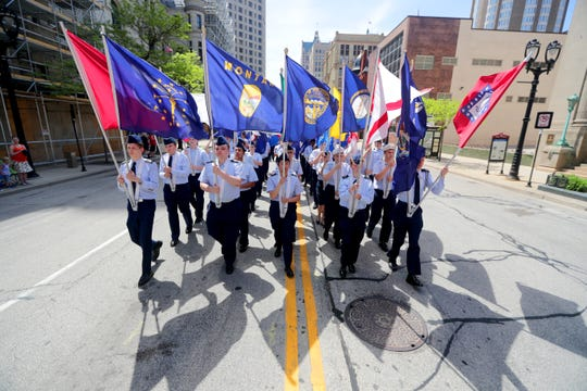 Milwaukee's Memorial Day Parade returns for the 154th time Monday to West Wisconsin Avenue. The parade starts at 2 p.m. at North Phillips Avenue, and heads east to the War Memorial Center.