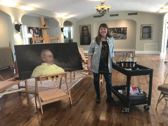 Madeline Glaspey is opening the Find Your Light Art School & Gallery in Cudahy on June 2 inthe former Schramka Nero Funeral Home building.