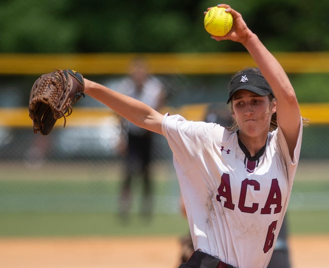 Alabama Christian's Haley Pittman pitches against Good Hope at Lagoon Park in Montgomery, Ala., on Friday May 17, 2019.