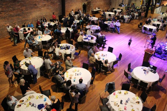 Guests dine and have fun at the 2018 Israel Fest, held at The Warehouse at Alley Station in Montgomery.