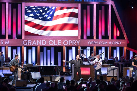 Country music singer Lee Greenwood, seen in this file photo from a previous performance, is among the artists scheduled to appear at Tuesday's Salute the Troops performance at the Grand Ole Opry.