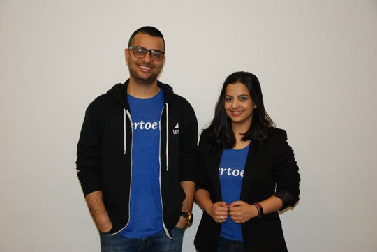 Sid Khattri and Neha Kesarwani founded Vertoe after they were stuck lugging their suitcases around Los Angeles.