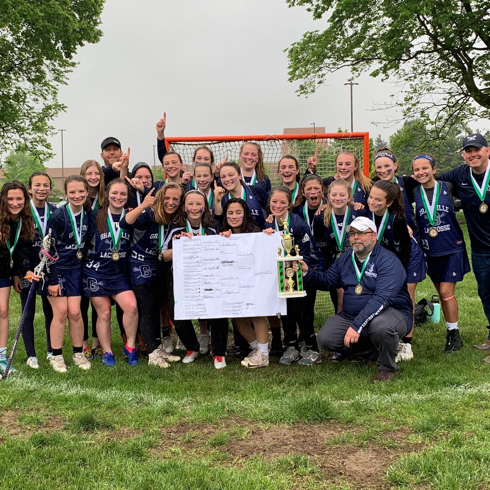 Granville middle school lacrosse teams each win state titles