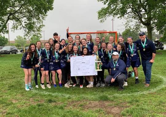 The Granville middle school girls lacrosse team won the state championship last weekend.