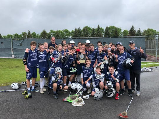 The Granville middle school boys lacrosse team won the state championship last weekend.