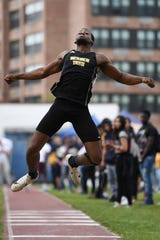 Keivon Banks of Bergen Tech carries his Bergen County Meet of Champions title into the state meet of champs event.