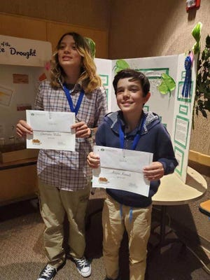 Keyon Kamali and Christopher Walker from J. Paul Taylor Academy took home first place in Desert Data Jam April 25.