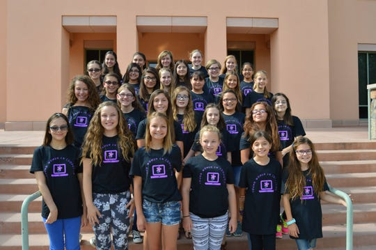 Middle and high school girls participate in the 2018 Young Women in Computing summer camp at New Mexico State University.