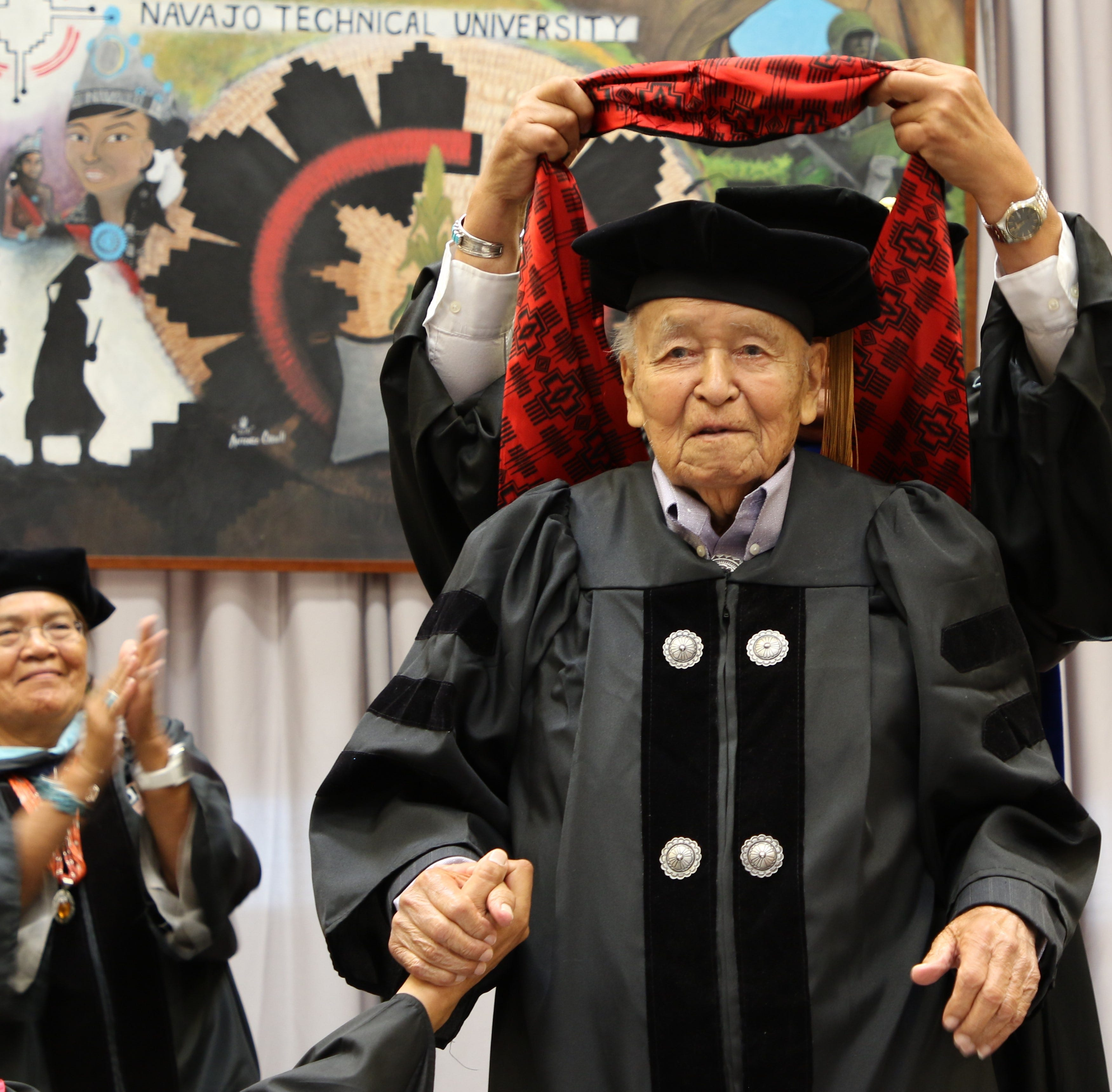 Navajo Technical University confers first honorary doctoral degree to John Pinto