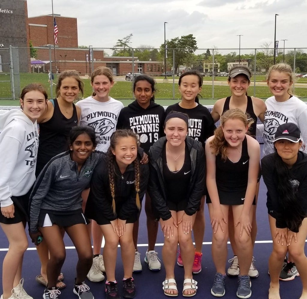 Plymouth tennis qualifies for first state tournament in school history, Franklin wins city
