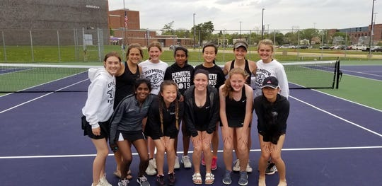 The Plymouth girls tennis team is headed to the state tournament.
