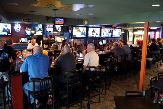 Coach's Corner Pub & Grill is pretty busy on May 17 around lunch time as it near the end of its stay on Farmington Road.