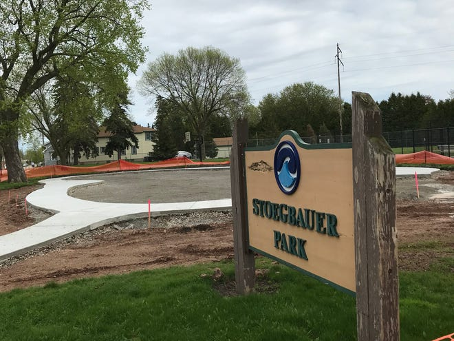 Stoegbauer Park's playground is receiving a $147,000 renovation that should be completed in June, weather permitting.