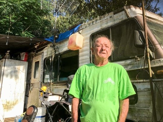 Willard Brigman, 69, was recently given a 30-day notice to relocate his camper from the Flamingo Park mobile home park on West Nine Mile Road. Like most residents of Flamingo Park, Brigman lives on a fixed-income and has nowhere else to go.