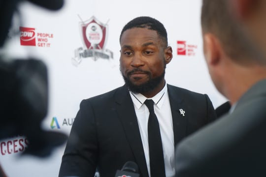 Cardinals cornerback Patrick Peterson speaks on May 16 before a fundraiser about the six-game suspension he received for violating the NFL's performance-enhancing drug policy.