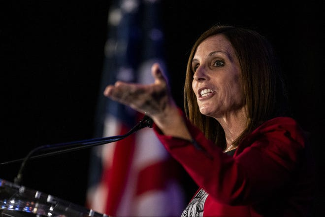 U.S. Sen. Martha McSally speaks during an event hosted by the Arizona Chamber of Commerce and Industry on May 17, 2019, at the Arizona Biltmore in Phoenix.