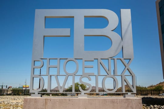 The FBI warns of 'Virtual Kidnapping Scams' luring people over the border at their Phoenix office on May 17, 2019.