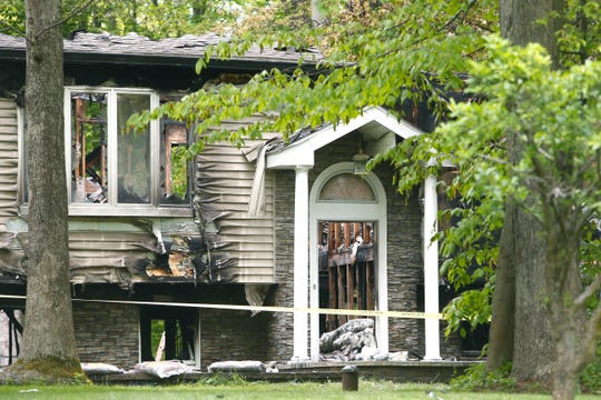 The aftermath of a fire that occurred Thursday evening on Queen Anne lane in East Fishkill on May 17, 2019.