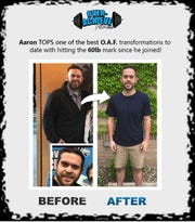 Aaron Lawrence is one of Over-Achieve Fitness' biggest transformations to date, having lost 60 pounds.