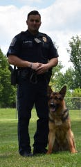 Newberry Township Police Sgt Christopher Martinez poses with K-9 partner Rico. Photo courtesy of Newberry Township Police.