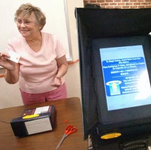 Say bye to those electronic voting machines after Tuesday; it's back to paper this fall