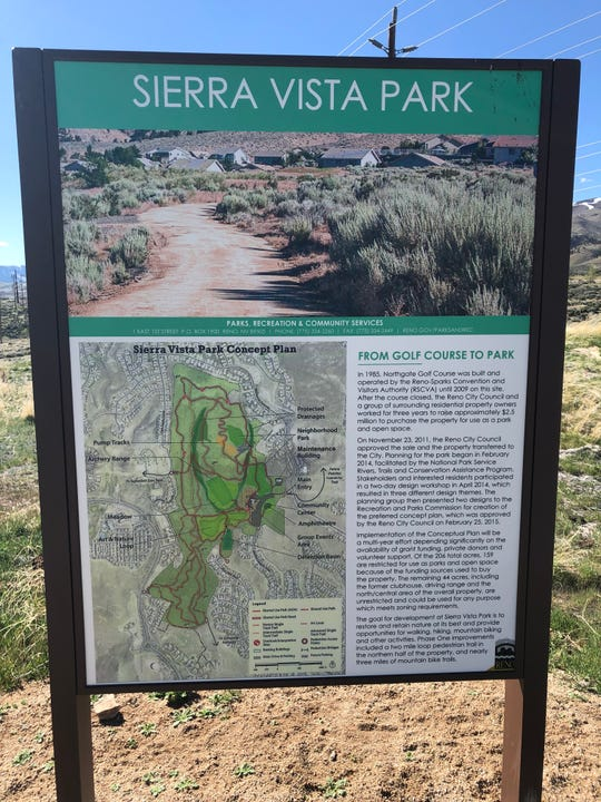 The former Northgate Golf Course, now Sierra Vista Park, in Northwest Reno.