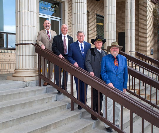 Douglas County Commissioners Barry Penzel, Larry Walsh, Wesley Rice, John Engels and Dave Nelson