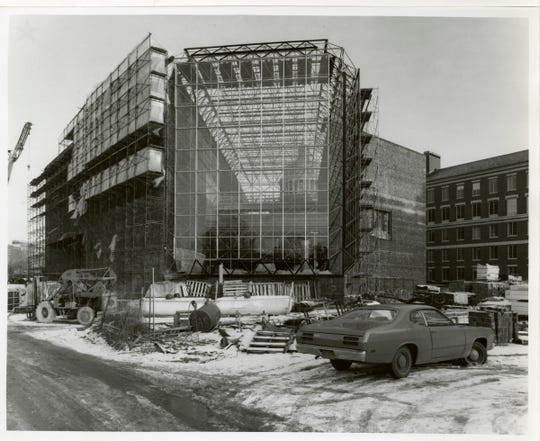 Construction of the Wilson Commons building, 1973 to 1976.