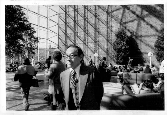 I.M. Pei at the grand opening of Wilson Commons