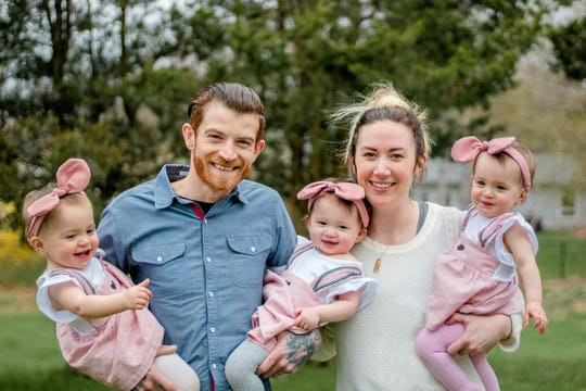 Jessica Serpe of Penfield and her husband Sam Serpe with their daughters London, Harley and Pollie.
