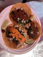 An order of street tacos at the new El ShasTaquero in Anderson.