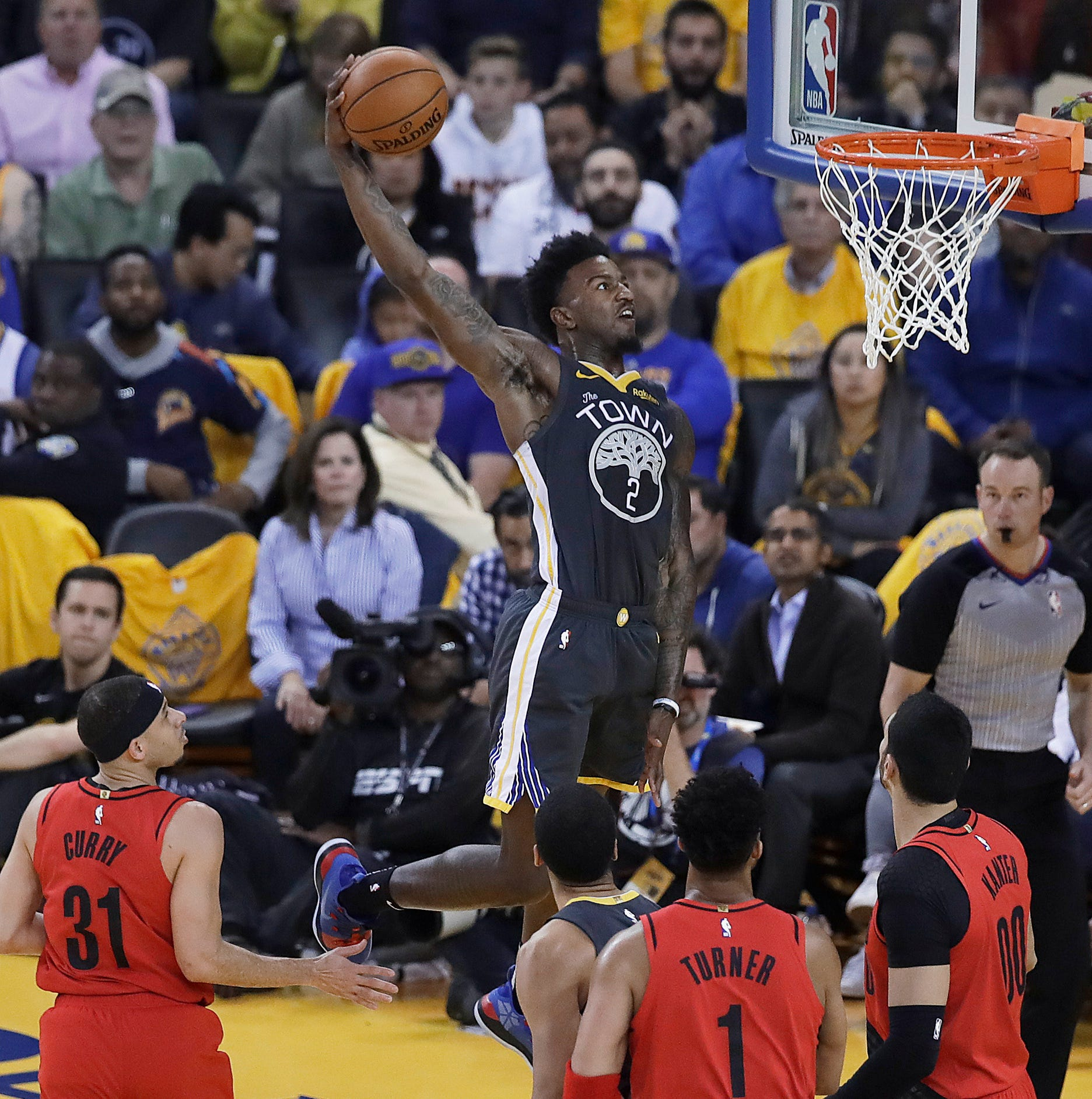Warriors rally from 15 down at halftime, hold off Trail Blazers