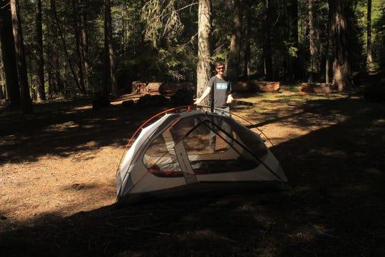 Camping along the Metolius River