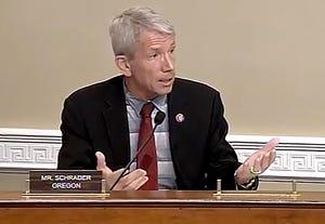 Congressman Kurt Schrader, D-Oregon, during a hearing.