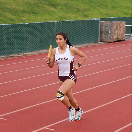 North Salinas alum Nina Arias is one of many local prep runners that powered the Panthers to a NorCal title. She competed in a team-high four events in the CCCAA NorCal championships in Modesto Saturday.